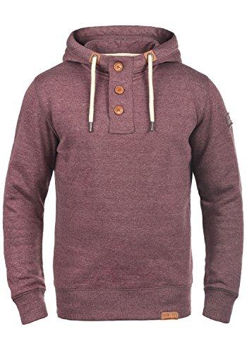 SOLID TripStrip Herren Kapuzenpullover Hoodie Sweatshirt aus hochwertiger Baumwollmischung, Größe:M, Farbe:Wine Red Melange (8985)