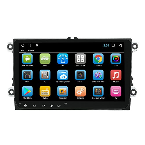 Preisvergleich Produktbild KKmoon Android 7.1 System GPS Navigation 9 Zoll Full HD 1080P Touchscreen 2 Din Auto Stereo MP5 MP3-Player BT In-Dash Navigation Unterstützt für MirrorLink AUX SD/USB FM/AM Auto Multimedia Player