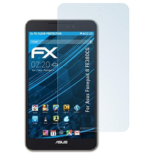 atFolix Schutzfolie kompatibel mit Asus Fonepad 8 FE380CG Folie, ultraklare FX Bildschirmschutzfolie (2X)