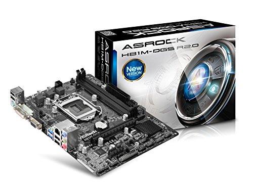 ASRock H81M-DGS Mainboard Sockel LGA 1150 (micro-ATX, Intel H81, 2x DDR3-Speicher, 2x SATA III, USB 2.0)