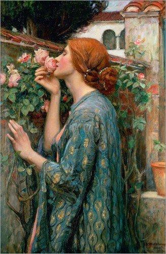 Poster 70 x 110 cm: Seele der Rose von John William Waterhouse - hochwertiger Kunstdruck, neues Kunstposter