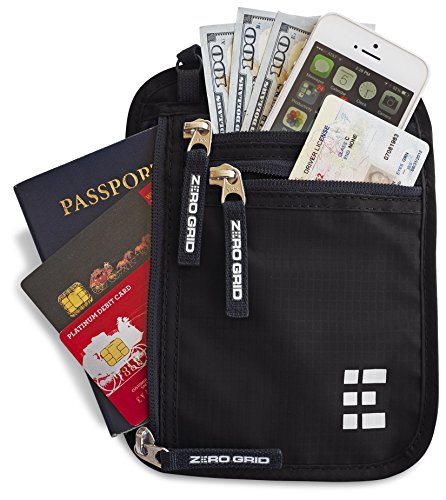 Portadocumentos de Viaje con Protección RFID – Cartera para Colgar y Porta Pasaporte