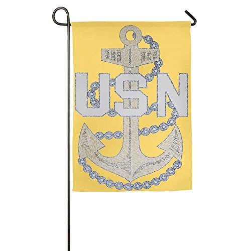 momnn Decor US Navy CPO Chief Petty Officer Funny Home Yard House Garden Flags All-Weather Polyester Emblemize 12x18 inches (Chief Us-navy)