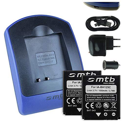 2 Akkus + Ladegerät (Netz+Kfz+USB) für Ricoh Action Cam WG-M1 / Pentax MX-1, X90 / Sigma DP Merril. - s. Liste