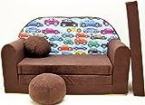 Kindersofa Spielsofa Minicouch aus Schaum Kindersessel Kissen Matratze Farbwahl (42)