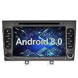 Ohok 7 Pollici Android 8.0.0 Oreo Octa Core 4G+32G 2 Din In Dash Autoradio Schermo di Tocco Lettore DVD Navigatore GPS Con Bluetooth Per Peugeot 308 2008 2009 2010 grigio