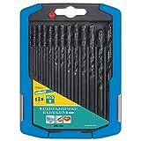 Wolfcraft 7106000 7106000-13 Brocas Espiral HSS, Laminado por Rodillo Compuesto de diam. 2,0-2,5-3,0-3,2-3,5-4,0-4,5-5,0-5,5-6,0-6,5-7,0-8,0 mm en Caja Deslizante de plástico 2k, Set de 13 Piezas