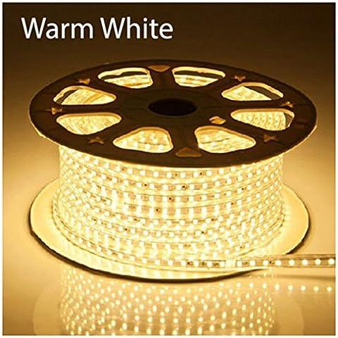 1-100m 5050 SMD 60 LED Strip Light 110v High Voltage Flexible IP67 Waterproof Warm White 33m = 100 ft
