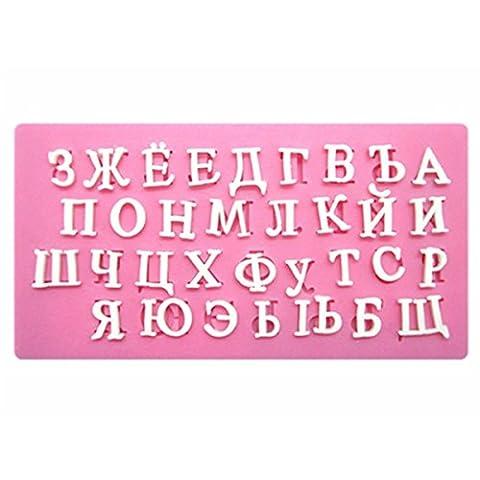 3D Backformen russisches Alphabet Silikon Schimmel Candy Schokoladenpudding Buchstaben Backen,