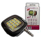 LED Selfie Kamera Licht / Blitzlicht Handy und Smartphone Licht Fotolicht Lampe mit int. Akku - PB-Versand®
