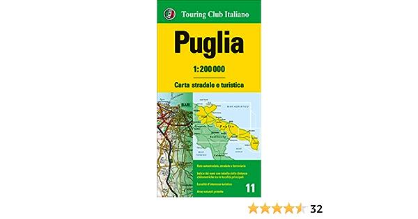 Cartina Puglia Localita Turistiche.Amazon It Puglia 1 200 000 Carta Stradale E Turistica Aa Vv Libri In Altre Lingue