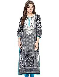 ChhipaPrints 100% Cotton Hand Printed Turquoise Women Kurta