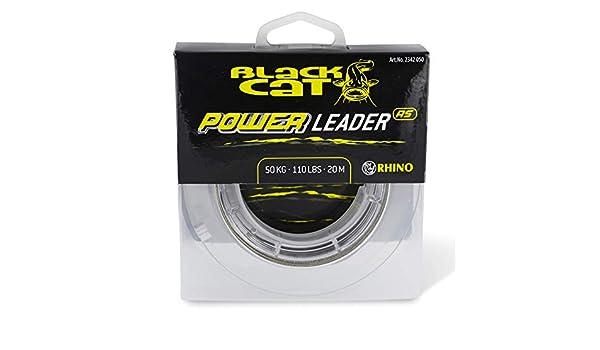 Black Cat /Ø1,40mm Power Leader 20m 150kg,330lbs Gr/ün 1,40 mm