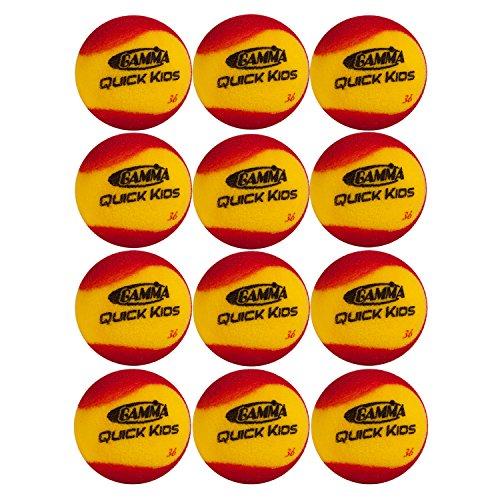GAMMA Sport Schaumstoff Tennis Bälle für Kinder und Anfänger–3Optionen erhältlich, unisex, Quick Kids 36 Foam Balls (Schaumstoff-bälle 36)