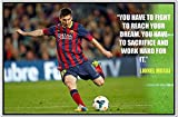 #4: 100Yellow Football Sports Messi Poster For Kids Room