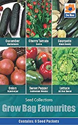 This is a 6 pack of different varieties which are perfect for planting in Growbags. If space is an issue for you then this pack is highly reccomended (no soil preparation needed).Seeds1x Cucumber1xCherry Tomato1x Courgette1x Onion1x Sweet Pepper1x Le...