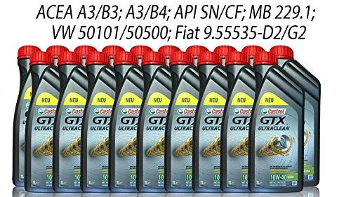 Castrol GTX Ultraclean 10W-40 A3/B4 Grey, 19x1 Liter