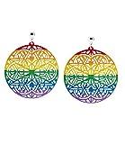 SIX Pride - Ohrschmuck, Cut-Out Metallscheiben Ohrring mit Regenbogen Farben (761-799)