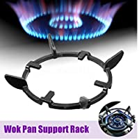 Angoter Universal Iron Wok Pan Support Rack Stand for Gas Stove Shelf Hob Cooker Kitchen Supplies