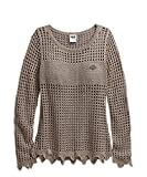 Harley Davidson Open Knit Metallic Sweater 96154-16VW Damen Sweater, Wood Smoke, S