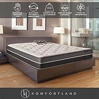 Komfortland Colchón viscosoft reversible Memory Soft con 6 cm de Viscosoft, Altura 23 cm, Medida 90x190 cm