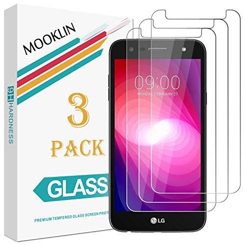 [3 Stück] MOOKLIN LG X Power II Panzerglas Bildschirmschutzfolie,[Anti-Kratzen] Handy Schutzfolie für LG X Power II
