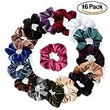 16 pacchi scricchioli di velluto legami di capelli bobble morbidi ed eleganti fasce elastiche per capelli fasce per le donne 16 colori accessori per capelli