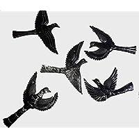 Set 5 uccelli che volano parete metallica