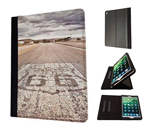 Preisvergleich Produktbild 002721 - Famous Route 66 Mexico America Design Apple ipad Mini / ipad Mini Retina 1 2 3 TPU Leder Brieftasche Hülle Flip Cover Book Wallet Stand halter Case