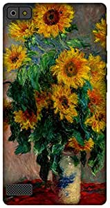 The Racoon Lean printed designer hard back mobile phone case cover for Blackberry Z3. (Bouquet of)