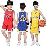 NBA Maglie da Basket per Bambini - NBA Lakers #24 Kobe Bryant Camicia da Basket Pantaloncini Estivi Set per Ragazzi e Ragazze
