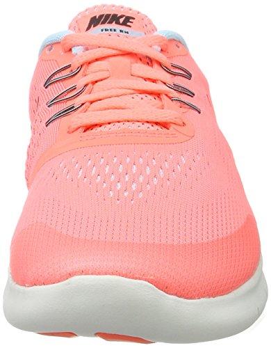 Nike Free Rn (Gs), Scarpe Sportive Indoor Bambina Multicolore (Lava Glow/metallic Silver Black)