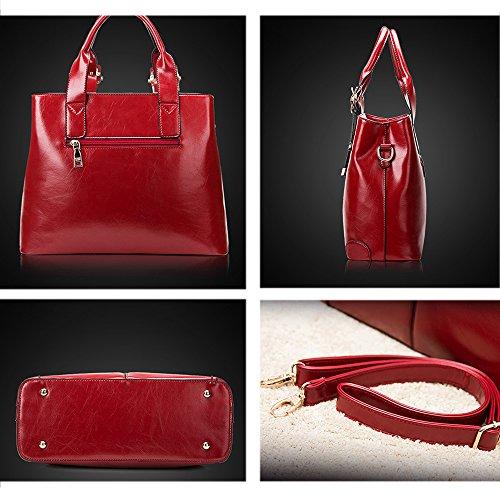 Fanmingsidi, Borsa a mano donna rosso Red Red
