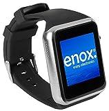 Enox SWP22 SILBER Smartwatch Smartphone Handyuhr SIM Karten Einsatz 1,54' Farb-Display Fitness-Features Handy Bluetooth Uhr zum Verbinden mit Android und iOS Geräte