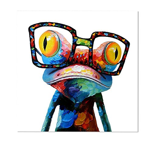Ming-Pinturas Modernas Sin Marco -Rana Con Gafas,...