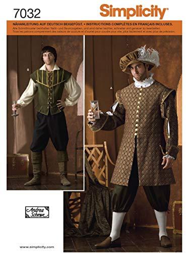 Simplicity Schnittmuster 7032 A Herren Kostüm Gr. XS - XL -