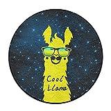 Telecharger Livres COOL Lama avec lunettes de soleil Tapis de sol rond Paillasson pour salle a manger Chambre a coucher Cuisine Salle de bain balcon (PDF,EPUB,MOBI) gratuits en Francaise
