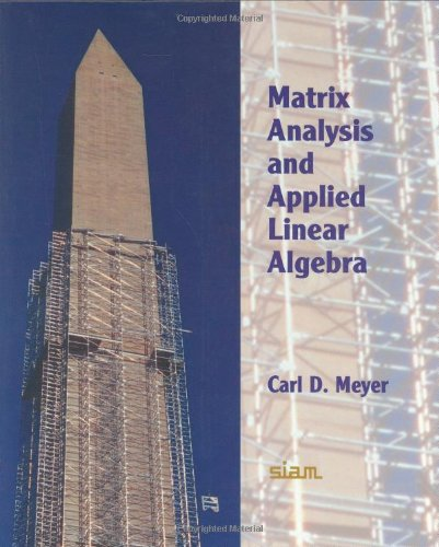 Matrix Analysis and Applied Linear Algebra Book and Solutions Manual Hardback