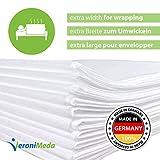 VERONIMEDA Massageliege Bezug (5 Stk) / Waschfaserlaken für Massage 4 JAHRE LEBENSDAUER/Massageliege Auflage (200 x 160cm) / Massagetisch Bezug (50g/m² Vlieslaken) Laken für Behandlungsliege