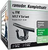 RAMEDER Komplettsatz, Anhängerkupplung starr + 13pol Elektrik für VW GOLF V Variant (113024-06245-2)