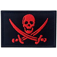 Pirate Flag Military Morale Fastener Hook & Loop Patch