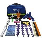 Weylon PDR Werkzeuge Aluminium Dent Hammer mit Tap unten mit einem abschraubbaren Kunststoff-Tipp - Sicher auf allen lackiert