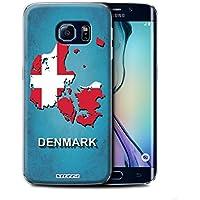 Stuff4 Hülle / Hülle für Samsung Galaxy S6 Edge / Denmark/Dänemark Muster / Flagge Land Kollektion