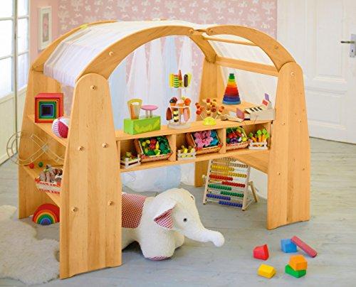 *BioKinder 22225 Anna Kaufladeneinsatz für Spielregal aus Massivholz Erle 130 x 13 x 19 cm*
