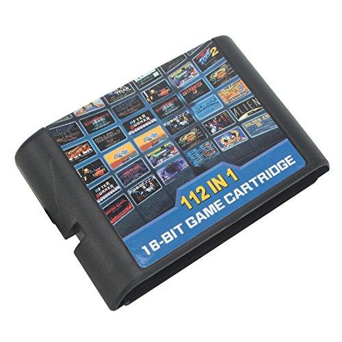DODOING 112 in 1 für Sega Megadrive Genesis Game Cartridge Include Contra Gunstar Heroes Alien Soldier Streets of Rage Sonic Golden Axe 1x 112 in 1 Game Card