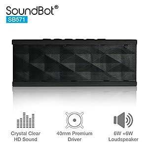 SoundBot SB571 Bluetooth Speaker 12W Output HD Bass 40mm Dual Driver Portable Speakerphone