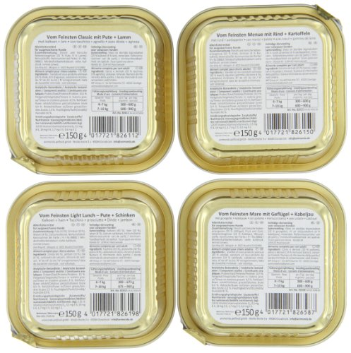 Animonda Adult Nassfutter für Hunde – Mix 2 aus 4 Varietäten – 22er Pack - 4