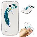 Cozy Hut Samsung Galaxy S4 Mini Hülle, Hochwertigem Silikon TPU Ultra Dünn Stoßfest, Anti-Scratch Transparent Soft Hülle Crystal Clear Weich Handyhülle für Samsung Galaxy S4 Mini - Feder