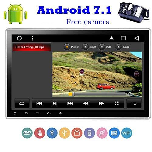 EINCAR Kostenlose Backup-Kamera + Android 7.1 Doppel-DIN-Car Autoradio DVD CD-Player-Steuergerät Car Stereo GPS Navigation kapazitiver Multi-Touch Screen 1024 * 600 Unterstützung Spiegel Link/B (Multi-cd-player-stereo-system)