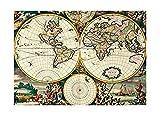 Vier Hemisphäre Weltkarte